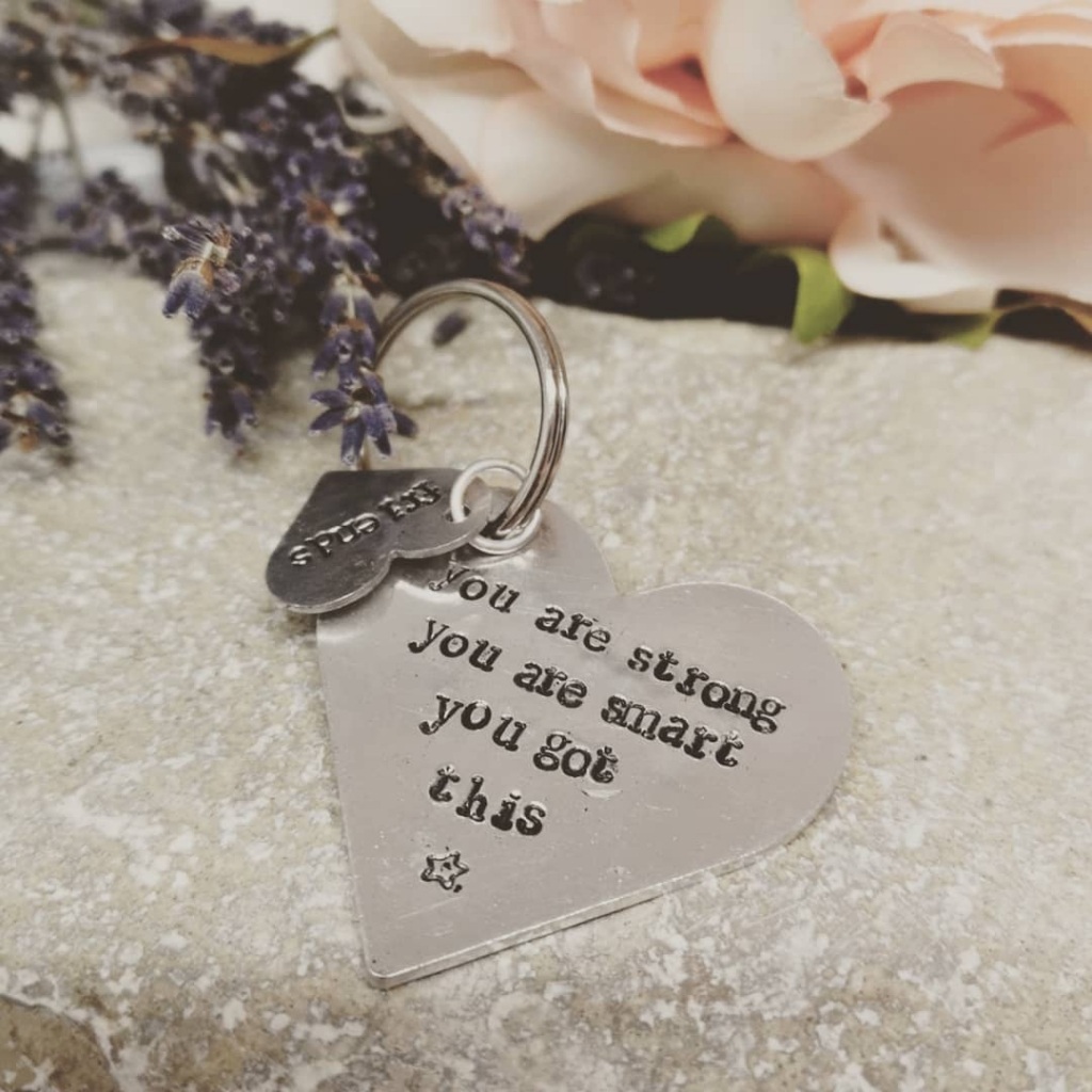 You are strong, you are smart, you got this keyring